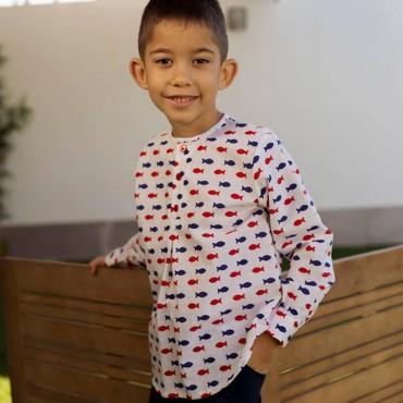Camisa Niño Peces Mon Petit...